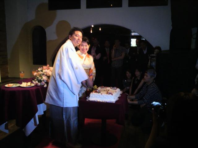 かつての相棒ベーシスト結婚式にて